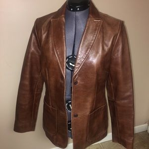 Gap Genuine leather jacket size small